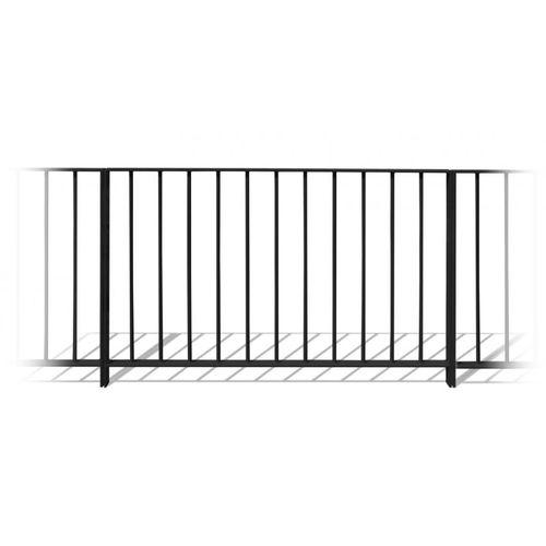 Stahlgeländer / mit Stangen / Außenbereich / für Treppen