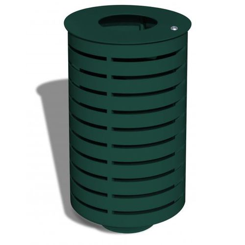 Park-Abfallbehälter / verzinkter Stahl / Stahlblech / modern