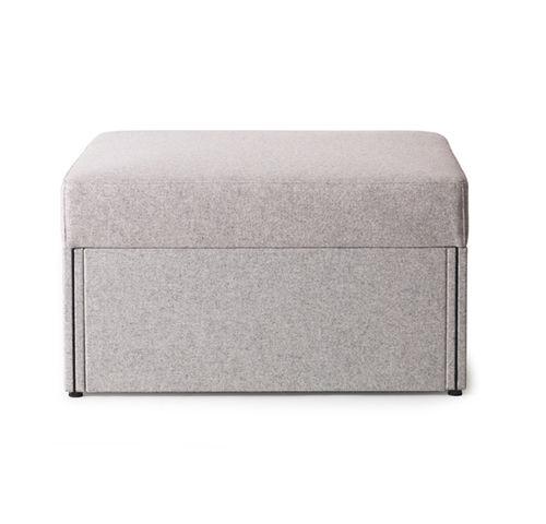 moderner Sitzpuff / Stoff / rechteckig / quadratisch