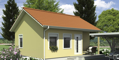Fertigbau-Mikrohaus / modern / Holz / ebenerdig