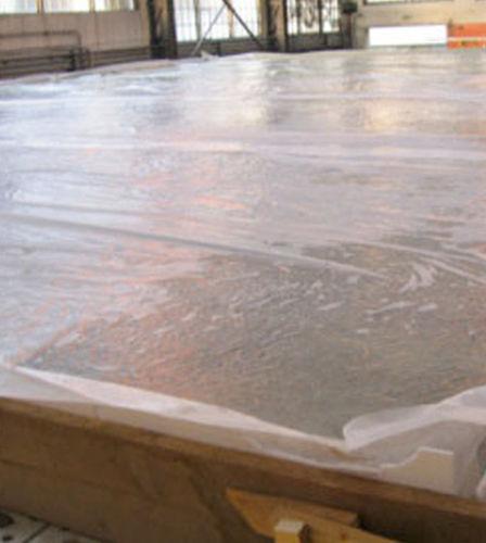 Betonbodenplatte / Holz / Polystyrol / mit Wabenstruktur