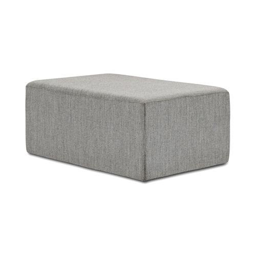 moderner Sitzpuff / Stoff / rechteckig / grau
