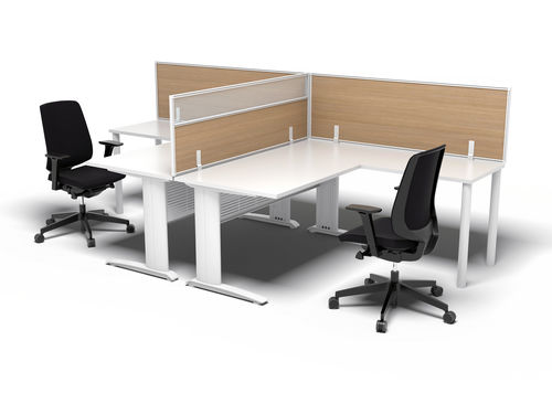 abnehmbare Trennwand / Aluminium / Laminat / Holz