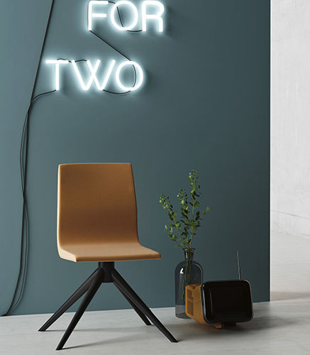 moderner Stuhl / Polster / mit abziehbarem Bezug / Stoff