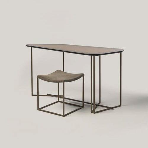 moderner Sekretär / Holz / Metall
