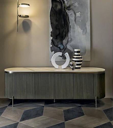 modernes Sideboard / Metall / Marmor / Keramik