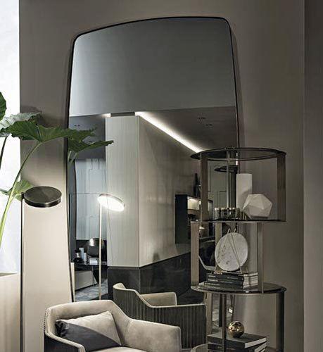 wandmontierter Spiegel / Wohnzimmer / modern / rechteckig