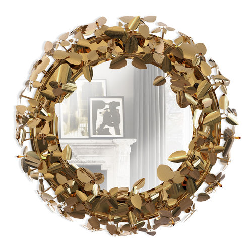 wandmontierter Spiegel / Wohnzimmer / modern / rund