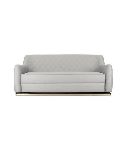 modernes Sofa / Leder / Kunstleder / Objektmöbel