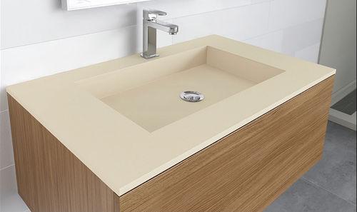 Einbauwaschbecken / rechteckig / Verbundwerkstoff / modern