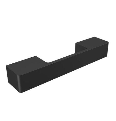 Glastüren-Stoßgriff / anodisiertes Aluminium / modern / Silberoptik