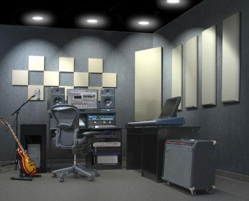 wandmontierte Akustikplatte / Stoff / Glasfaser