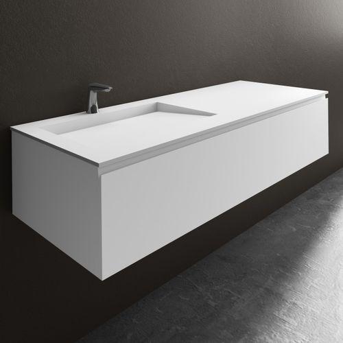 wandmontierter Waschtisch-Unterschrank / aus MDF / aus Corian® / modern