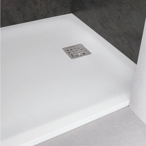 rechteckige Duschwanne / erhöht / aus Corian® / extraflach