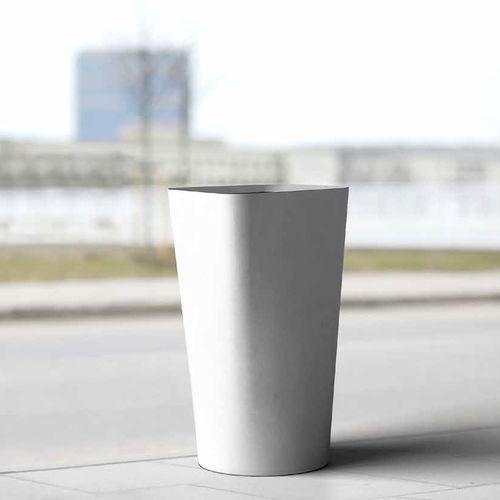 Park-Abfallbehälter / verzinkter Stahl / modern