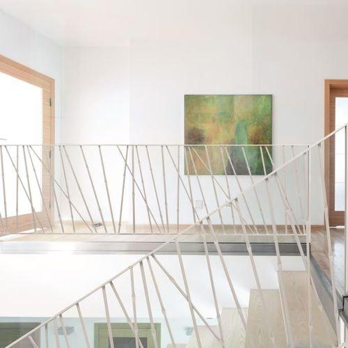 Metallgeländer / mit Stangen / Innenraum / für Treppen