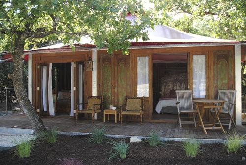 Bungalow-Stil-Haus / modern / Holz / PVC