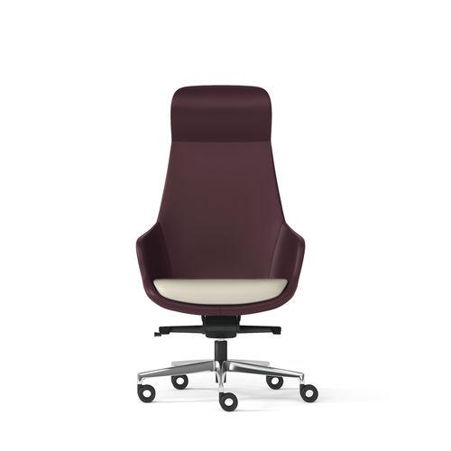 moderner Bürosessel / Stoff / Leder / Kunstleder