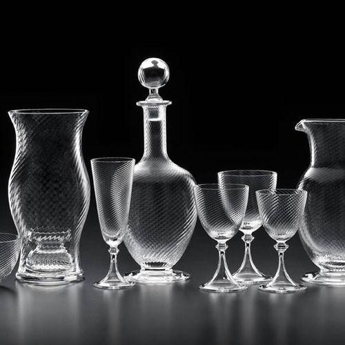 Dekantierkaraffe / geblasenes Glas