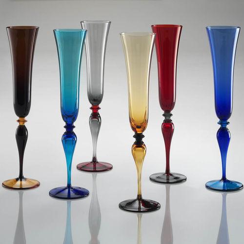 Sektkelch / geblasenes Glas