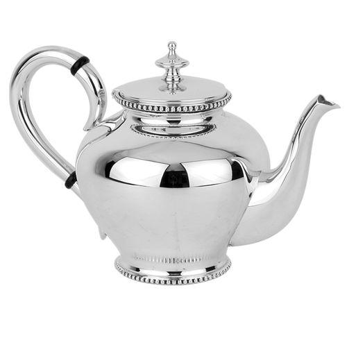Massivsilber-Teekanne