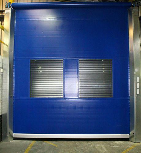 Roll-Industrietor / Schiebe-Stapel / Metall / PVC
