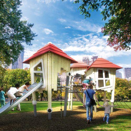 Spielplatzgerät für Spielplätze / für öffentliche Einrichtungen / für öffentliche Räume / Holz
