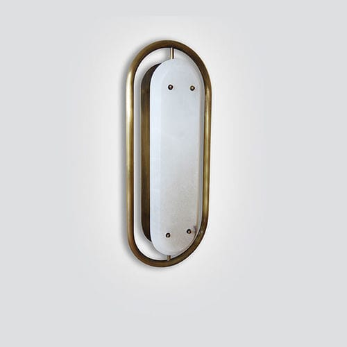 moderne Wandleuchte / Messing / Marmor / Alabaster