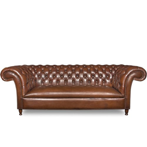 Chesterfield-Sofa / Leder / Contract / für Hotels