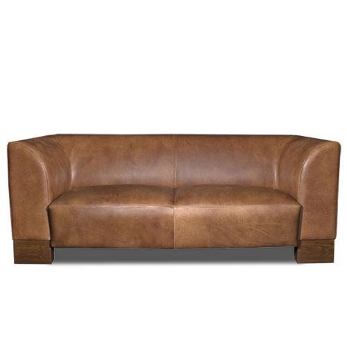 Sofa / Art Deco / Leder / Holz / Contract