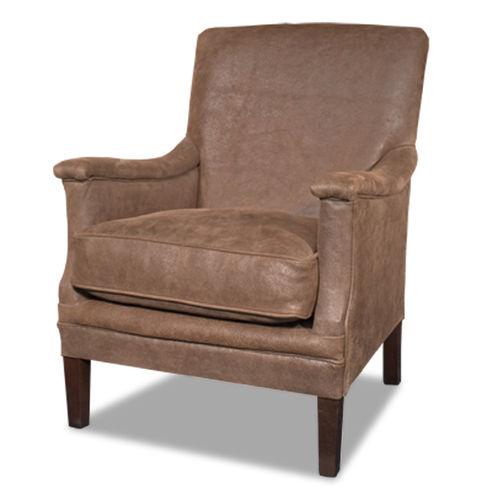 Sessel / Art Deco / Leder / Holz / schwarz