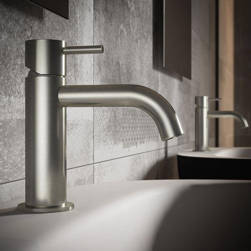 Einhebelmischer für Waschbecken / für Handwaschbecken / für Theken / Stahl