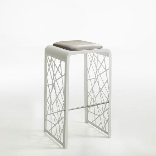 Barhocker / originelles Design / Stoff / Aluminium / gebürsteter Edelstahl