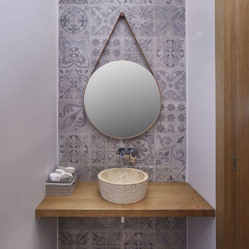 wandmontierter Spiegel / modern / rund / Contract