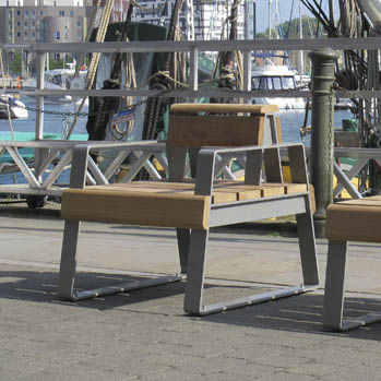 Straßen-Sessel / Holz
