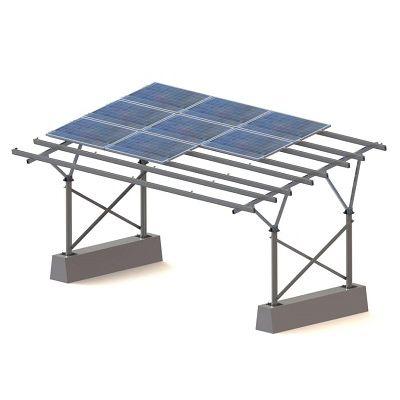 Carport mit integrierten Solarmodulen