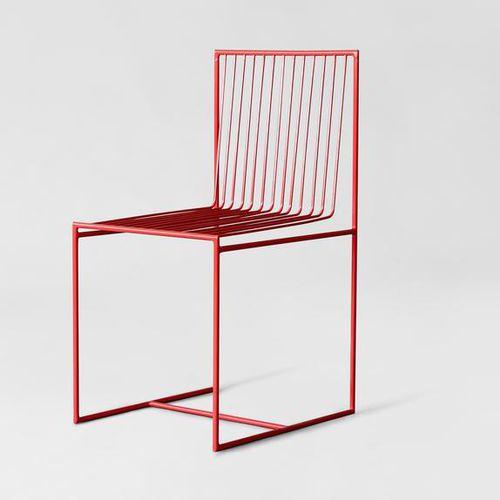 moderner Stuhl / Kufen / Stahl / Außenbereich