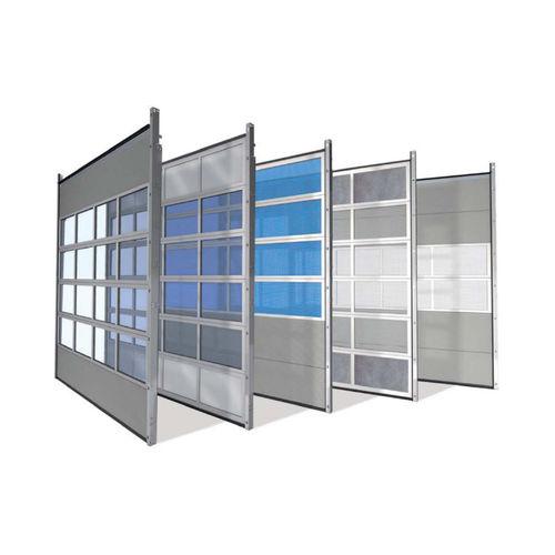 sektionales Industrietor / Aluminium / Kunststoff / automatisch