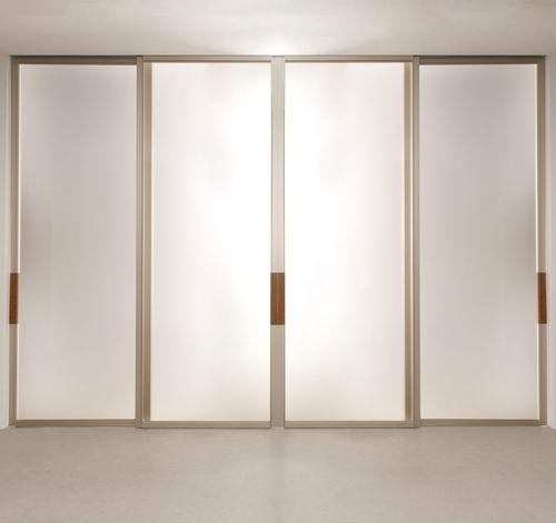 Innenbereich-Tür / Schiebe / Aluminium / verglast