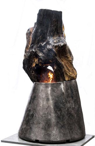 Gaskamin / originelles Design / offene Feuerstelle / freistehend