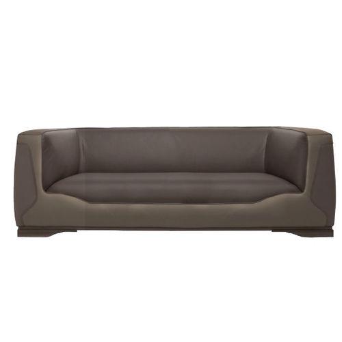 modernes Sofa / Leder / 2 Plätze / braun