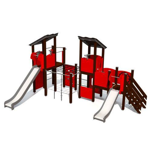 Spielplatzgerät für Spielplätze / Metall / HDPE / modular