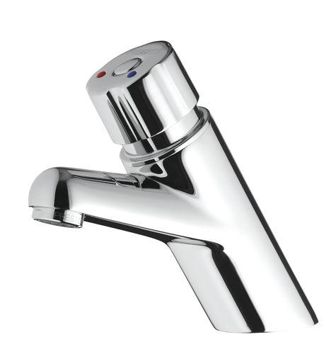 Einhebelmischer für Waschbecken / aus verchromtem Messing / Selbstschluss / Badezimmer