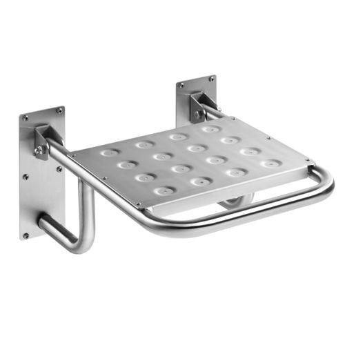 klappbarer Duschsitz / wandmontiert / Edelstahl / Objektmöbel