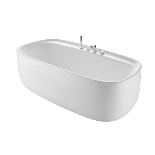 freistehende Badewanne / oval / Porzellan