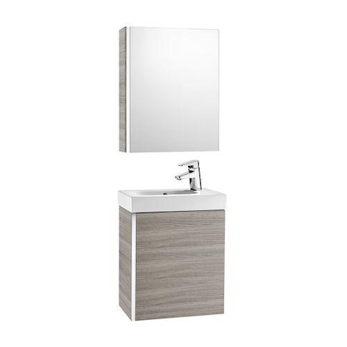 hängender Waschtisch-Unterschrank / Holz / modern / mit Spiegel