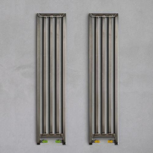 elektrischer Heizkörper / Stahl / Vorderseite aus Hartglas / modern