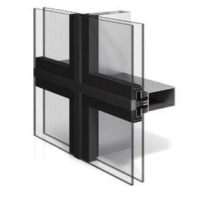 Vorhangfassade aus Aluminium und Glas