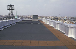 Abdichtungssystem für Dachterrassen / für Übergang / in Bandform / Bitumen