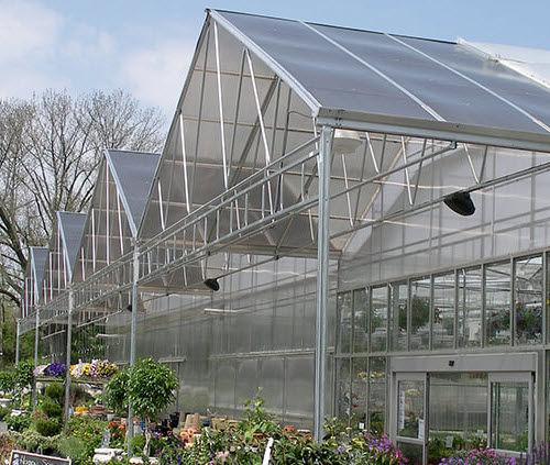 Objektmöbel-Gewächshaus / für Hobbygärten / mehrkuppelig / Polycarbonat